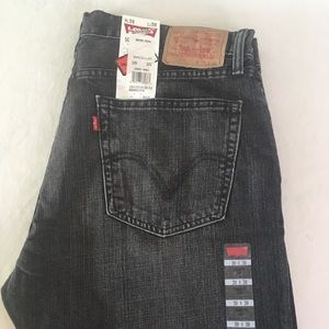 38x30 Levi's Original 505 Black Wash Jeans